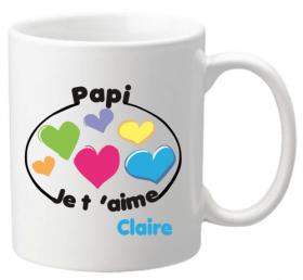 Mug Papi je t'aime Mod.8-f - Cadeau personnalise personnalisable - 1