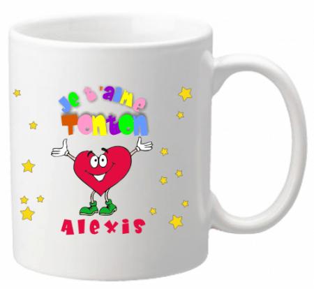 x Mug Tonton je t'aime Mod.1 - Cadeau personnalise personnalisable - 1