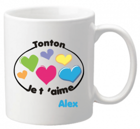Mug Tonton je t'aime Mod.8 - Cadeau personnalise personnalisable - 1