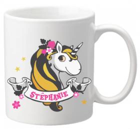 .Mug Mod.46 - Cadeau personnalise personnalisable - modele licorne - cadeau pour fille - anniversaire fille - 1