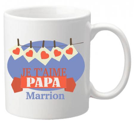 Mug Papa je t'aime Mod.27 - Cadeau personnalise personnalisable - 1