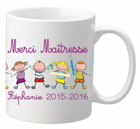 .Mug Farandole Maîtresse - Cadeau personnalise personnalisable - 1