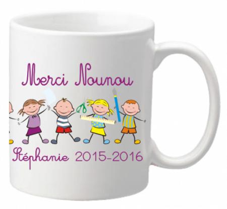 Mug Farandole Nounou - Cadeau personnalise personnalisable - 1