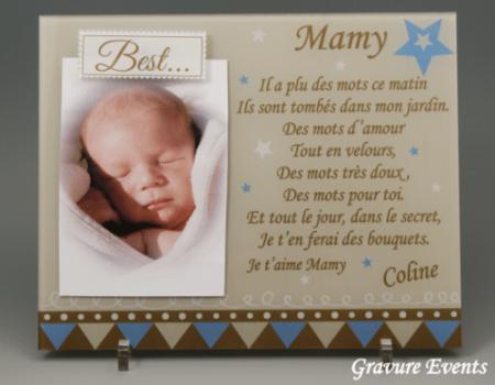 Cadre Photo Mamy (Mod. R) - Cadeau personnalise personnalisable - 1