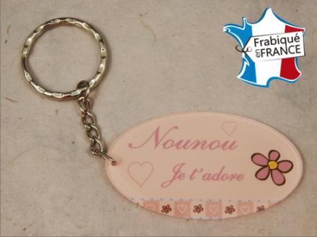 Porte Clef Nounou mod.Grose - Cadeau personnalise personnalisable - 1