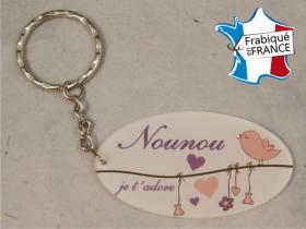 Porte Clef Nounou mod.L - Cadeau personnalise personnalisable - 1