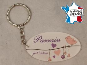 Porte Clef Parrain mod.L - Cadeau personnalise personnalisable - 1