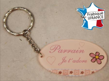 Porte Clef Parrain mod.Grose - Cadeau personnalise personnalisable - 1