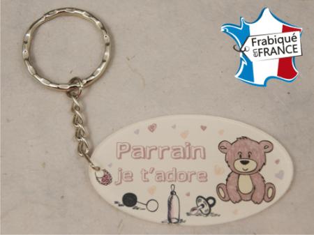Porte Clef Parrain mod.Frose - Cadeau personnalise personnalisable - 1