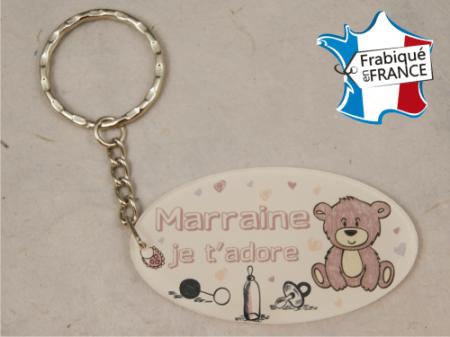 Porte Clef Marraine mod.Frose - Cadeau personnalise personnalisable - 1
