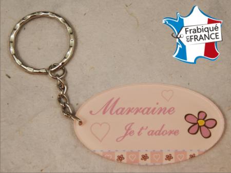Porte Clef Marraine mod.Grose - Cadeau personnalise personnalisable - 1