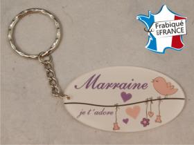 Porte Clef Marraine mod.L - Cadeau personnalise personnalisable - 1