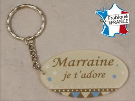 Porte Clef Marraine mod.R - Cadeau personnalise personnalisable - 1