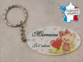 Porte Clef Marraine mod.Z1 - Cadeau personnalise personnalisable - 1