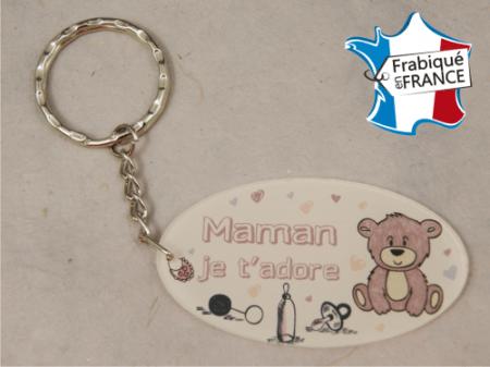Porte Clef Maman mod.Frose - Cadeau personnalise personnalisable - 1