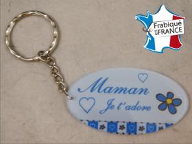 Porte Clef Maman mod.Gbleu - Cadeau personnalise personnalisable - 1