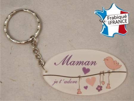 Porte Clef Maman mod.L - Cadeau personnalise personnalisable - 1