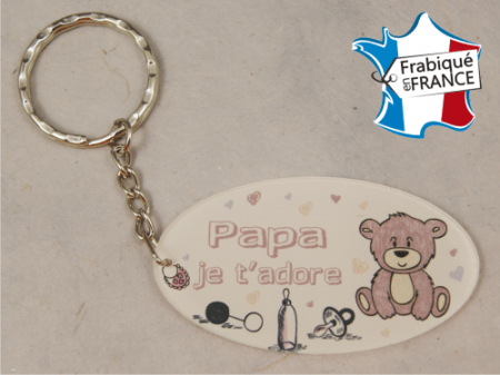 Porte Clef Papa mod.Frose - Cadeau personnalise personnalisable - 1