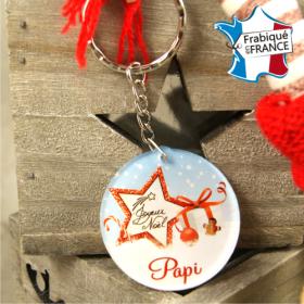 Porte Clef Joyeux Noël Papi - mod.Dn - Cadeau personnalise personnalisable - 1