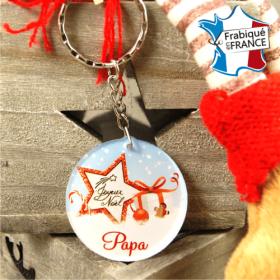 Porte Clef Joyeux Noël Papa - mod.Dn - Cadeau personnalise personnalisable - 1