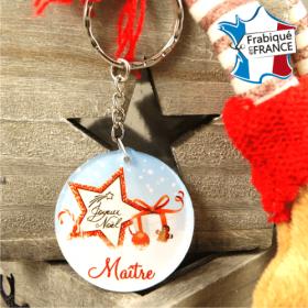 Porte Clef Joyeux Noël Maître - mod.Dn - Cadeau personnalise personnalisable - 1