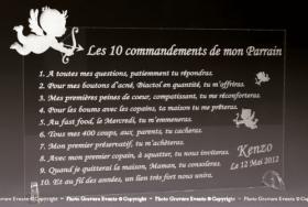 10 Commandements Parrain et Marraine Mod. Ange - Cadeau personnalise personnalisable - 1