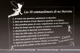 10 Commandements Parrain et Marraine Mod. Fée - Cadeau personnalise personnalisable - 1