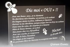 Veux tu être mon Parrain / Marraine (réf Tototte) - Cadeau personnalise personnalisable - 1
