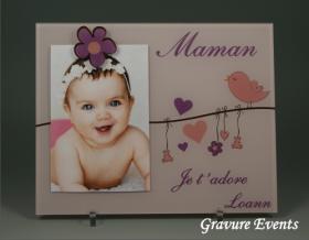 Cadre Photo Maman (Mod. L) - Cadeau personnalise personnalisable - 1