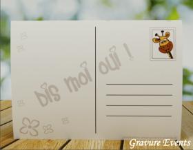 Carte postale Badge - Veux tu être ma Marraine (Mod AMr) - Cadeau personnalise personnalisable - 2