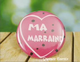 Carte postale Badge - Veux tu être ma Marraine (Mod AMr) - Cadeau personnalise personnalisable - 3