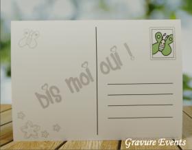 Carte postale Badge - Veux tu être ma Marraine (Mod BMr) Gravure Events - Cadeau personnalisé - 2