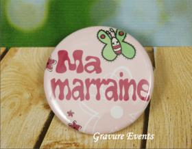 Carte postale Badge - Veux tu être ma Marraine (Mod BMr) Gravure Events - Cadeau personnalisé - 3