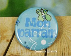 Carte postale Badge - Veux tu être mon Parrain (Mod BPr) - Cadeau personnalise personnalisable - 3
