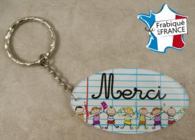 .Porte Clef Merci (bac37#1) - Cadeau personnalise personnalisable - 1