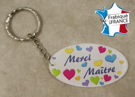Porte Clef Merci Maître (bac39#1) - Cadeau personnalise personnalisable - 1