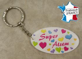 Porte Clef Super ATSEM (bac38#4) - Cadeau personnalise personnalisable - 1