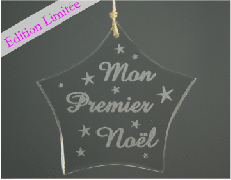 Etoile - Mon premier Noel -VERRE - Cadeau personnalise personnalisable - 1