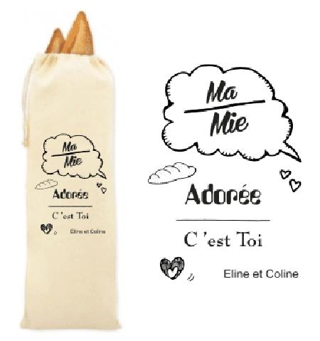 Sac à pain pour Mamie - Mod. 2 - Cadeau personnalise personnalisable - 1
