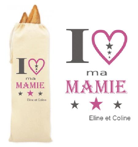 Sac à pain pour Mamie - Mod. 3 - Cadeau personnalise personnalisable - 1