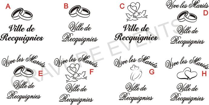 Verre gravé logo mairie - coffret cadeau mariage