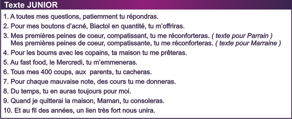 Texte Junior